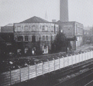 Ermen and Engels Mill, adjacent to the  Manchester-Liverpool Railway Line