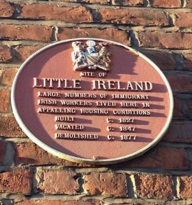 Little Ireland Plaque