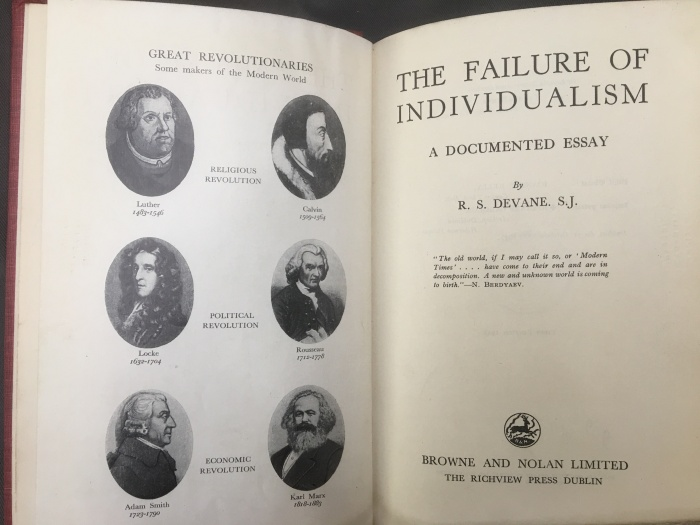 Failure of Individualism